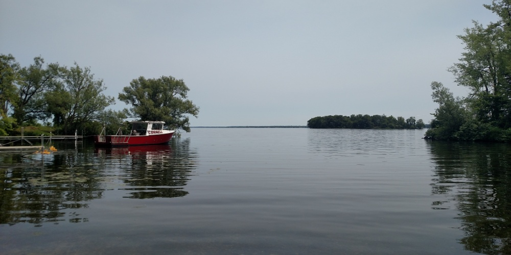 Cornell Boat on Oneida Lake